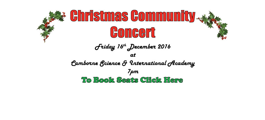 CHRISTMAS COMMUNITY CONCERT- BOOK YOUR SEAT NOW